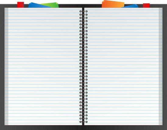 cahier à spirale agenda répertoire texte