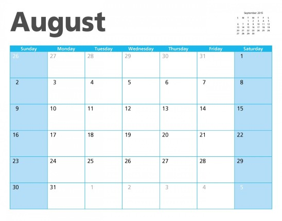 calendrier août 2015