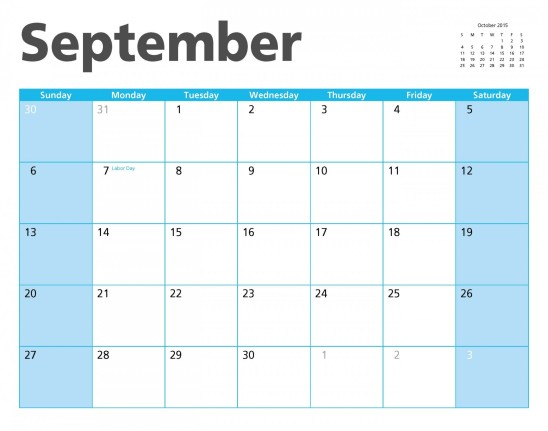 calendrier septembre 2015