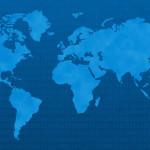 carte digitale du monde