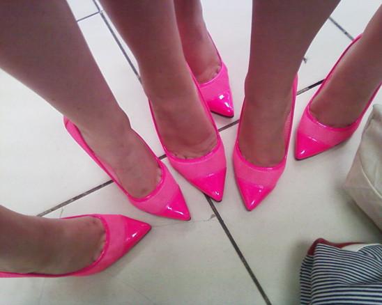 chaussures à talons rose escarpins pieds mode