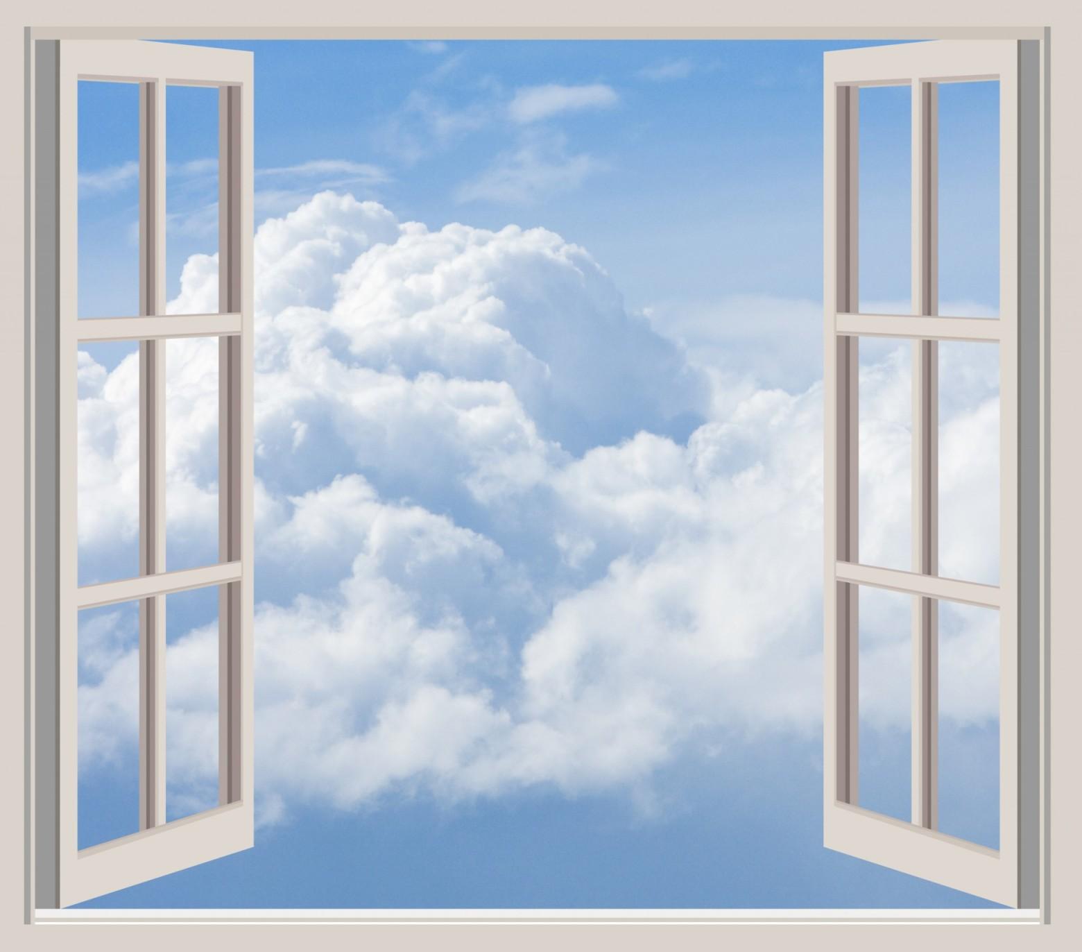 Fen tre vue sur le ciel et les nuages images gratuites for Condensation sur les fenetres