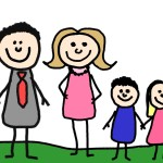 illustration famille couple homme femme enfant fille garçon