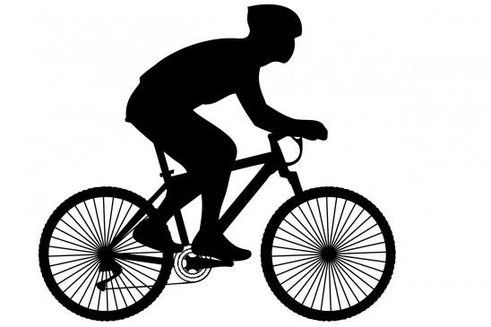 illustration homme cycliste vélo fond blanc
