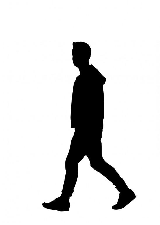 illustration vecteur homme qui marche