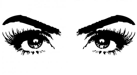 illustration yeux noir cils regard liner