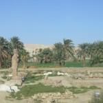 paysage égypte orient palmier statue