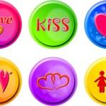 bouton logo amour love