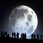 des hommes et la lune