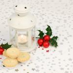 lanterne bougie photophore houx biscuit