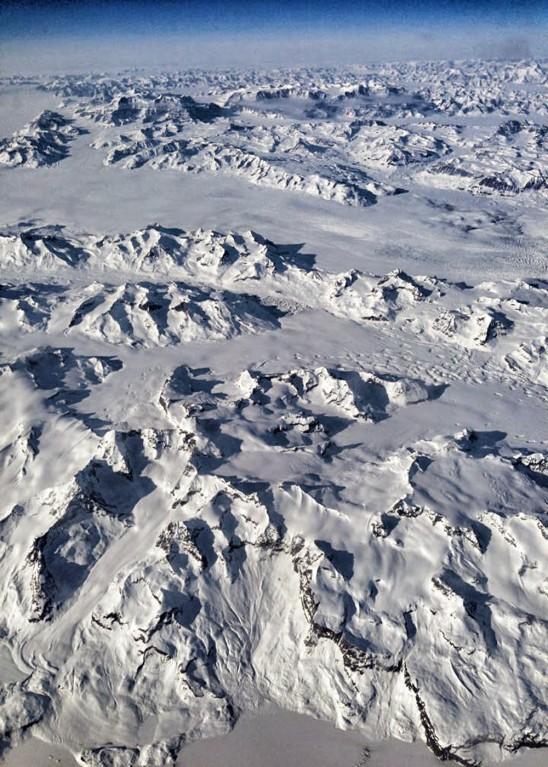montagne vue du ciel