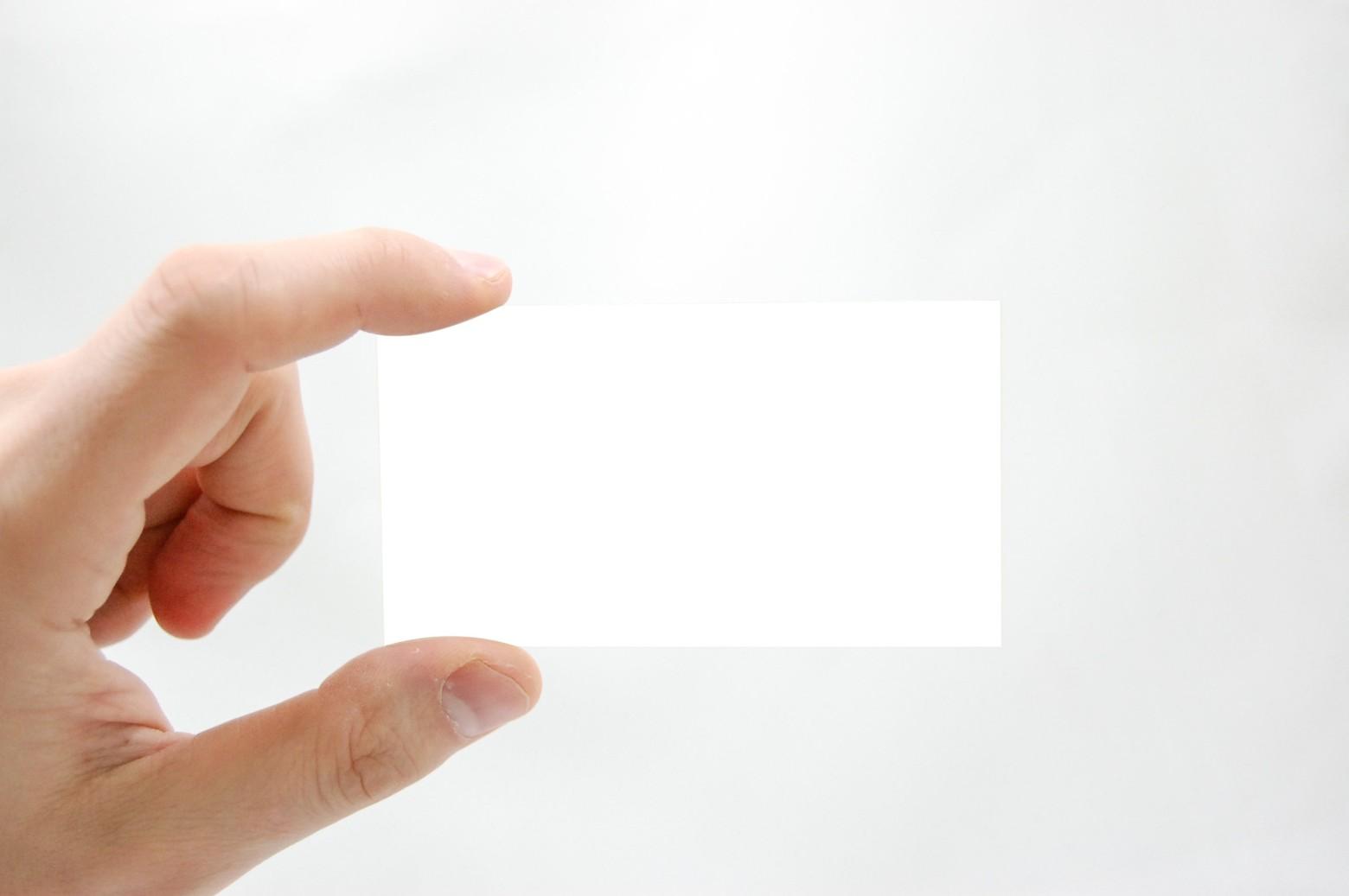 Main Tenant Une Carte De Visite Blanche