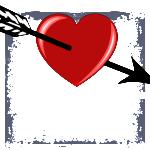 clipart illustration coeur avec une fléche images gratuites