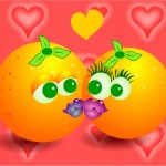 deux oranges qui s' embrassent kiss clip art images gratuites libres de droits
