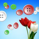 fleur tulipe et bouton de couture arrière-plan images gratuites