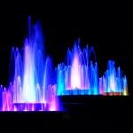 fontaine cascade eau nuit couleur lumière  images photos gratuites