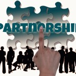 groupe de gens affaire business partner ship