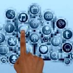 informatique interrupteur on média sociaux logo symbole boutons1