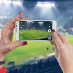match terrain de foot photographe photographier smartphone