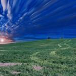 paysage pré prairie campagne coucher de soleil sunset images photos gratuites
