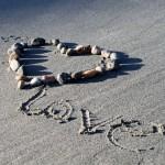 plage sable coeur love images photos gratuites