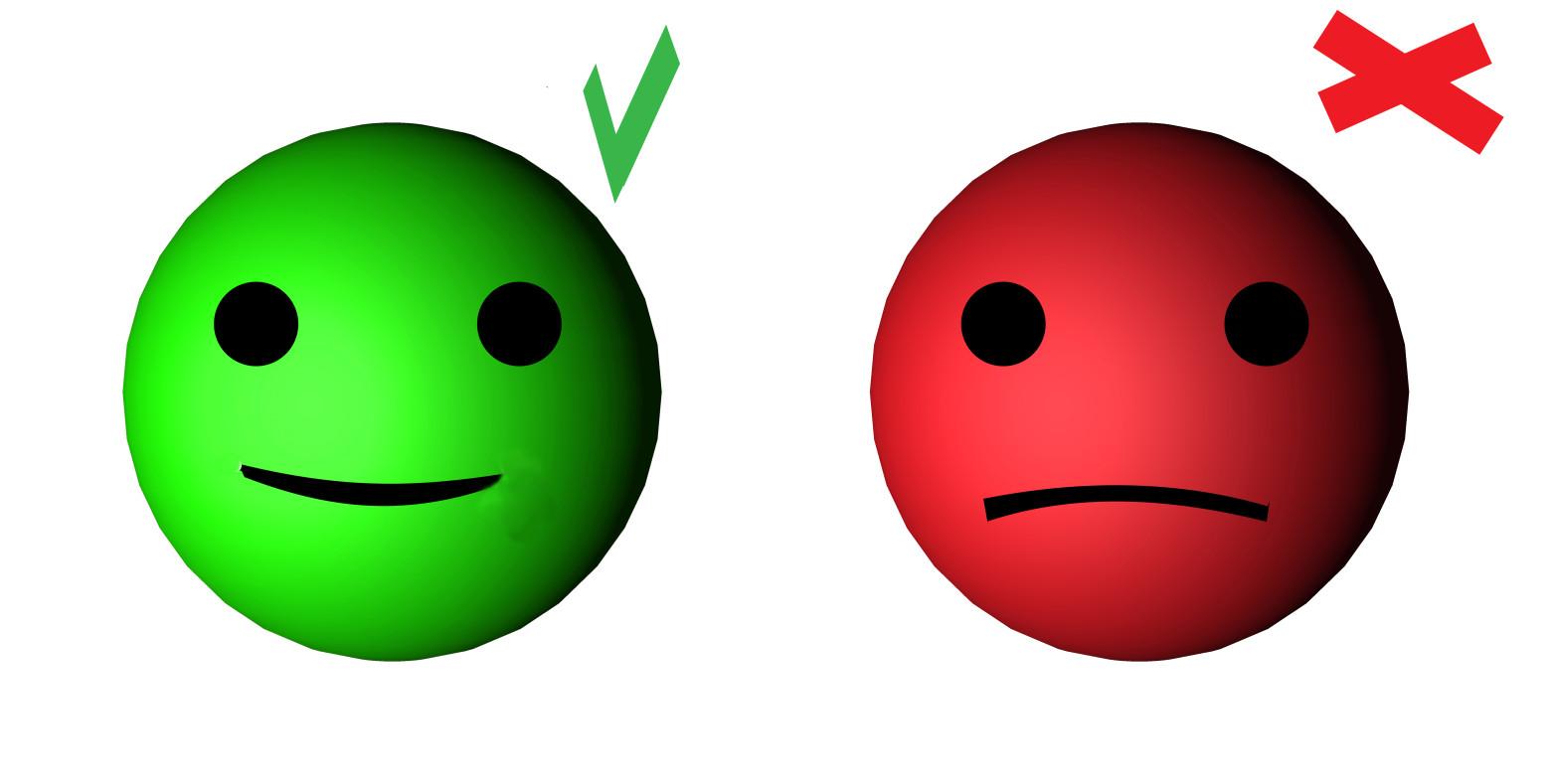 Smiley émoticône Vrai Faux Symbole Bonne Ou Mauvaise Réponse Images