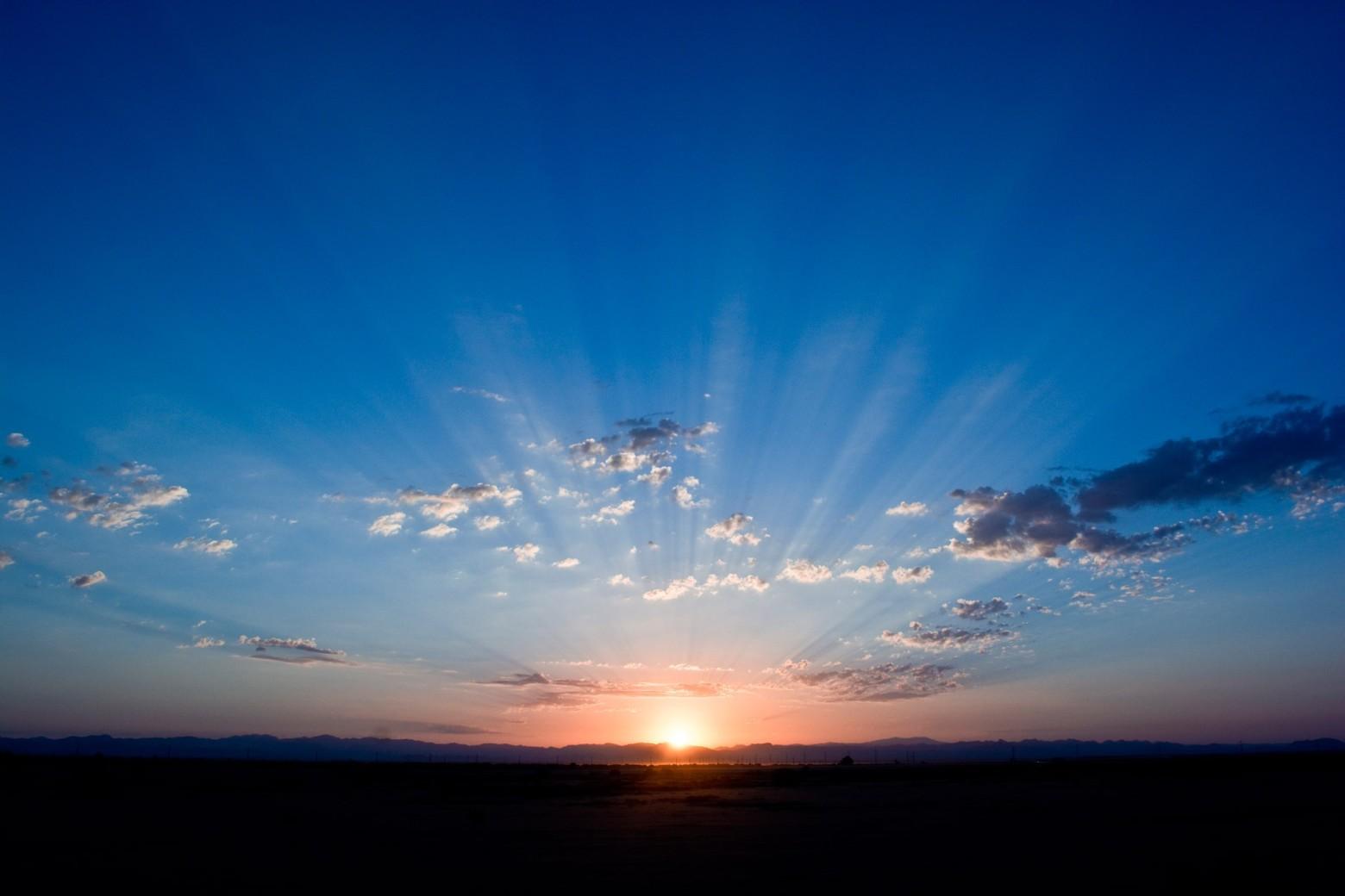 Lever Du Soleil Ciel Bleu Photos Gratuites Images Gratuites Et