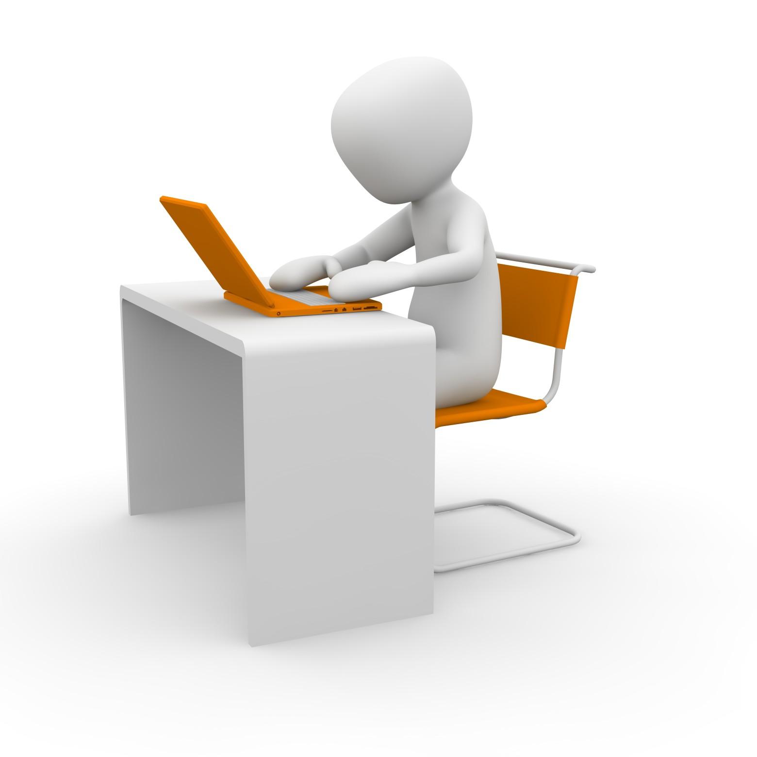 homme bureau travail ordinateur informatique