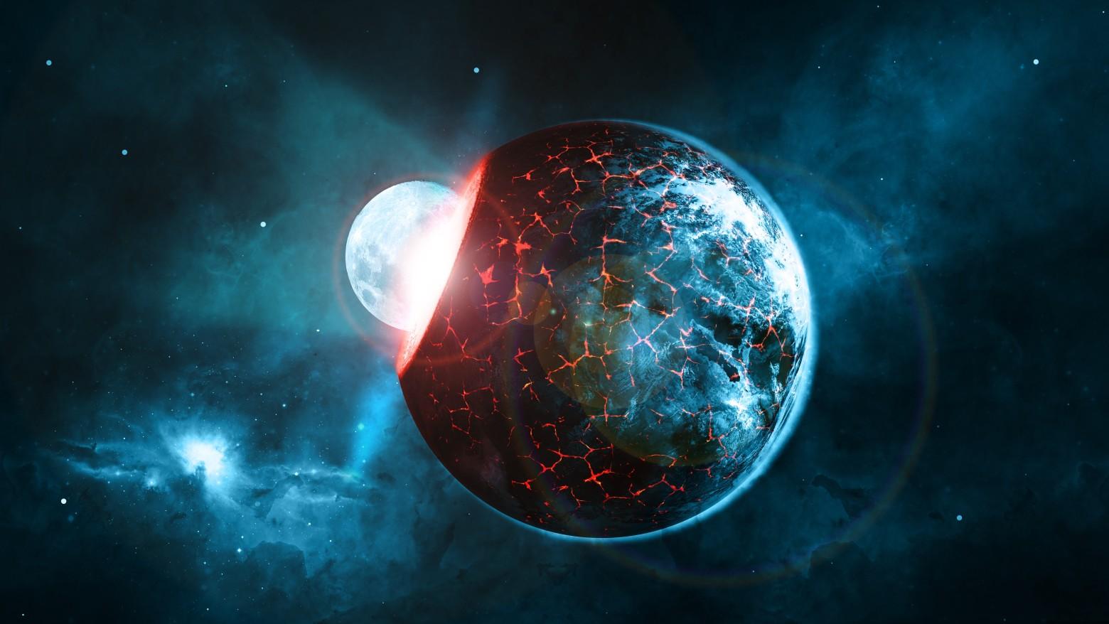 Univers Planete Espace Terre Impact Bing Bang Apocalypse Image Gratuite Images Gratuites Et Libres De Droits
