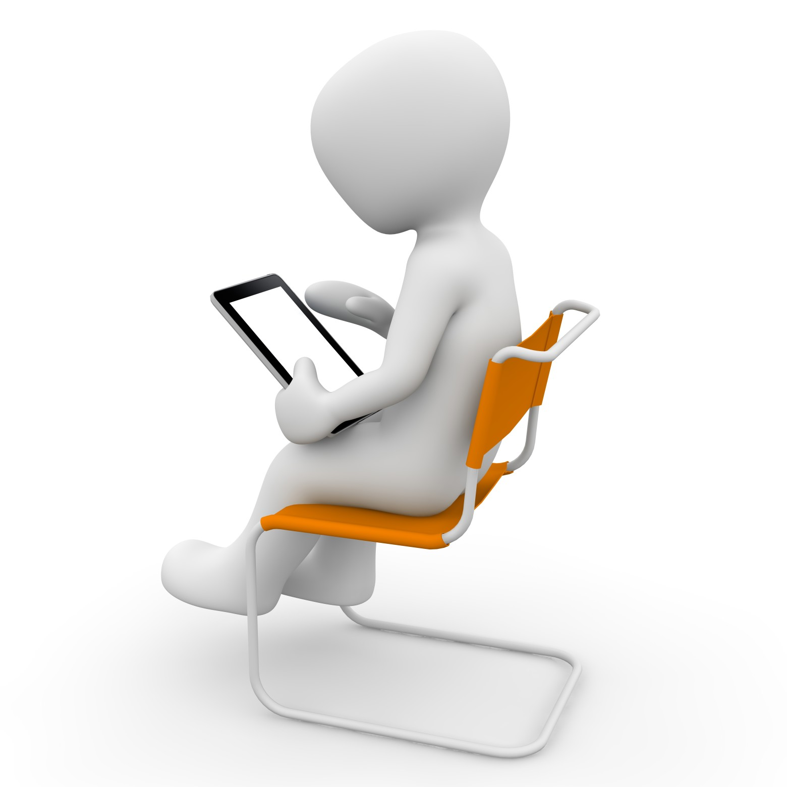 Bonhomme blanc ordinateur informatique images gratuites for Bureau images gratuites